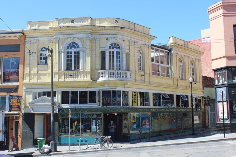 Cafes in North Beach, San Francisco.