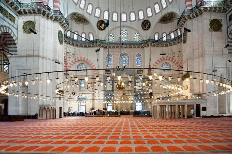 Interior Of Suleymaniye Mosque