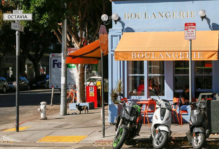 Restaurant in Hayes Valley. San Francisco.