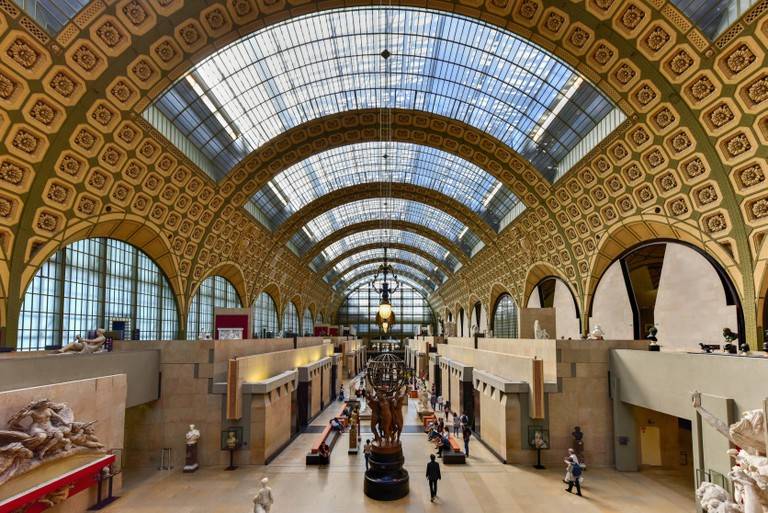 The Musee d'Orsay, a museum in Paris, France.