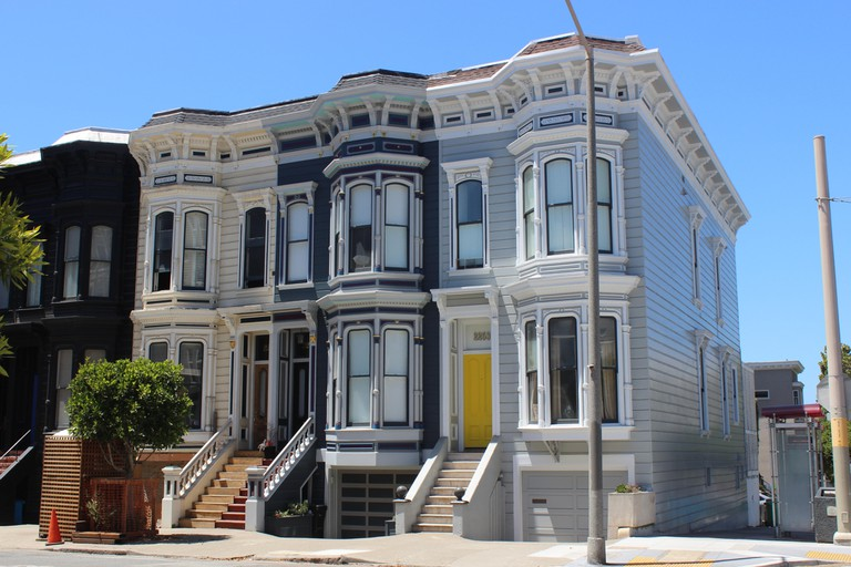 Italianate Row Houses, 1870s, Pacific Heights, San Francisco.