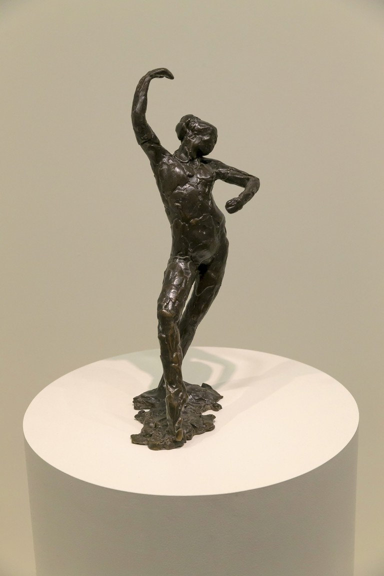 Spanish Dance, by Edgar Degas, 1896-1911, bronze sculpture, Solomon R. Guggenheim Museum, Manhattan, New York City, USA.