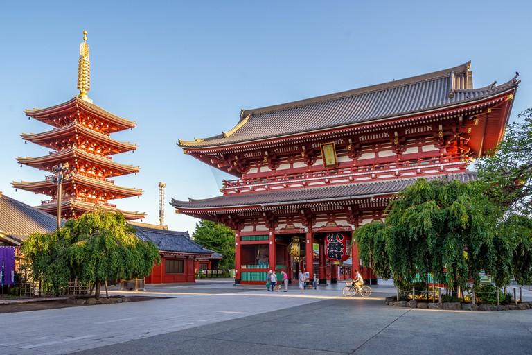 Senso-ji temple, Tokyo, Japan.