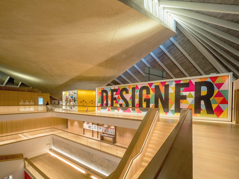 Interior of The Design Museum, London.