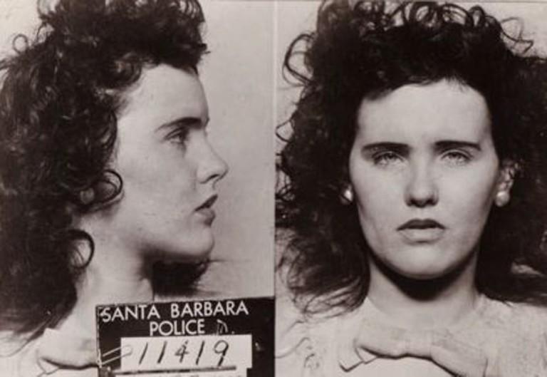 Mugshot of Elizabeth Short, also known as Black Dahlia.