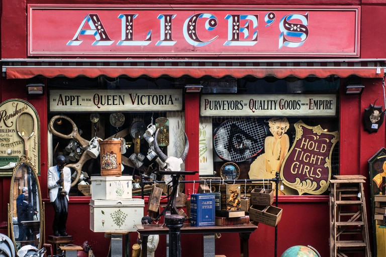 Alice's Antique Shop on Portobello Road, London