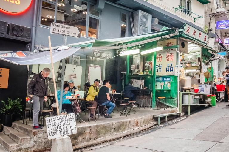 Outdoor food stall, Hong Kong