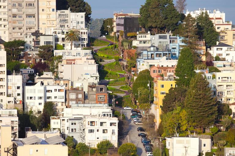 Lombard Street on Russian Hill, San Francisco.