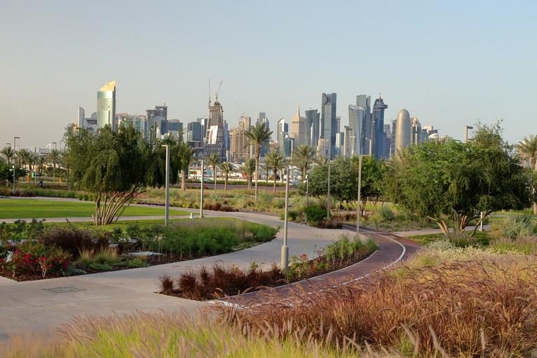 Al Bidda Park in the centre of Doha, Qatar