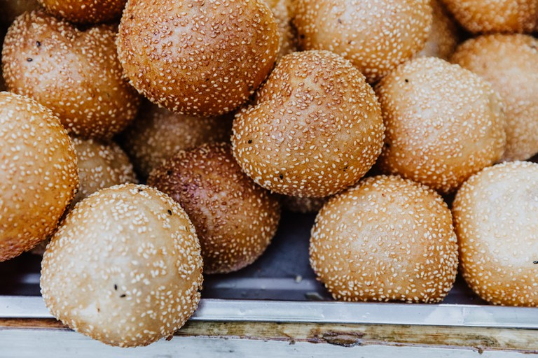 'Da bing' is a type of chewy flatbread covered in sesame seeds