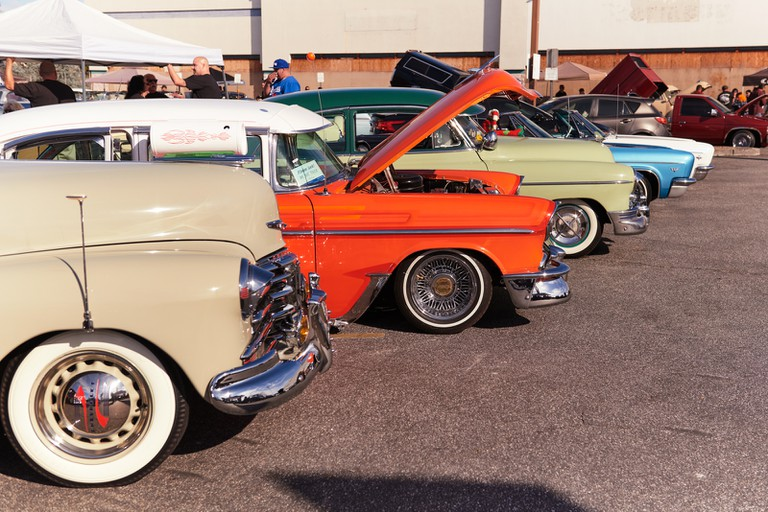 Modern-day lowriders are often inspired by '40s and '50s hot rods