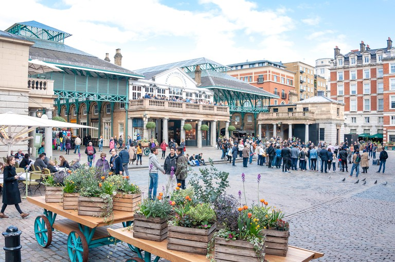 Covent Garden Market Square, London.