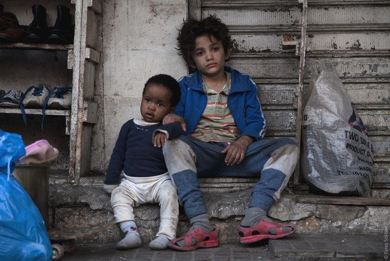 From left: Yonas (Boluwatife Treasure Bankole) and Zain (Zain Al Rafeea) in a still image from 'Capernaum'