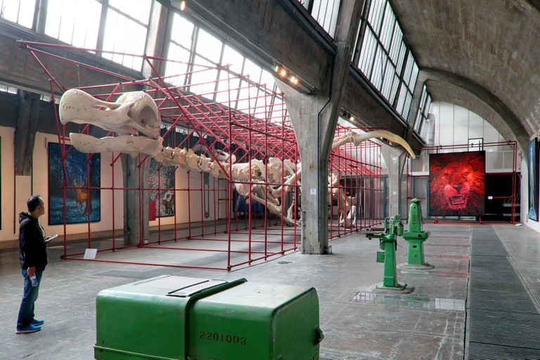 Find the Dodo by artist Liu inside 798 Space - a former factory building, 798 Art Zone