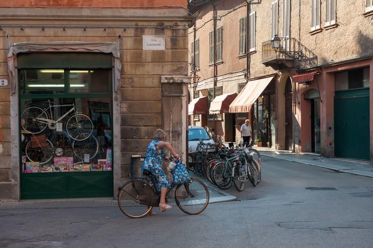 Street scene, Ferrara, Italy