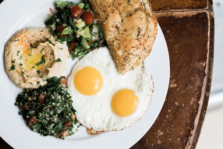 You'll be served a filling Mediterranean brunch at Cafe Mogador