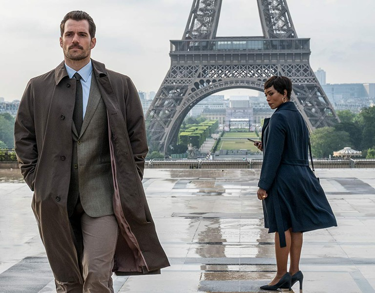 "Angela Bassett and Henry Cavill in ""Mission: Impossible - Fallout"""