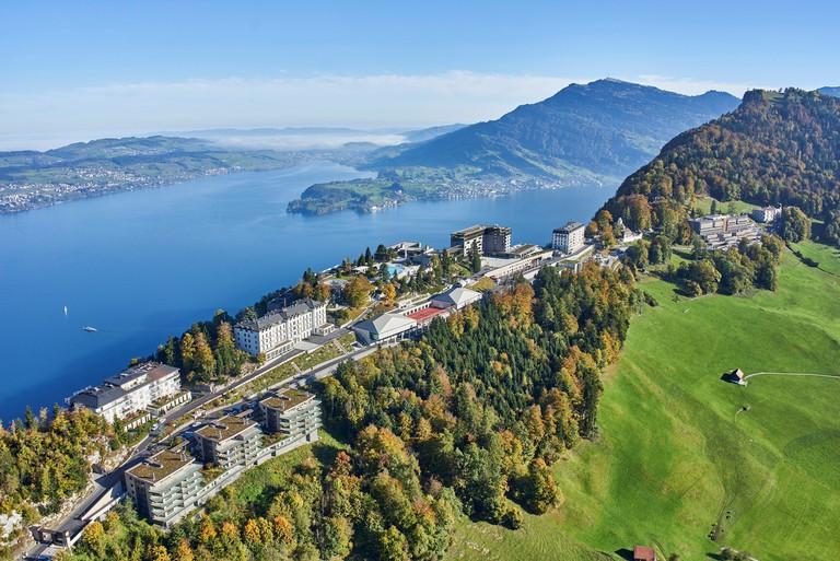 Buergenstock Resort Overview, Switzerland.