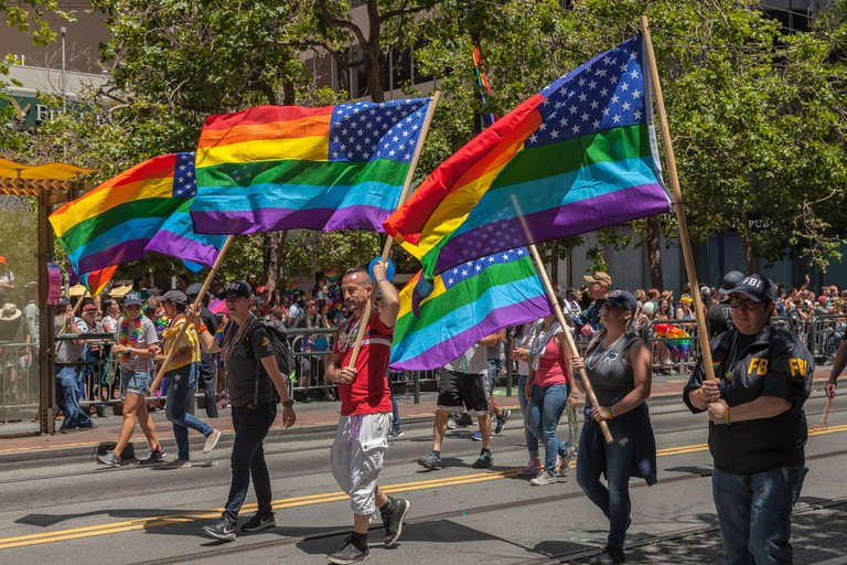 FBI agents participated at the San Francisco Pride Celebration 2018, California, United States.