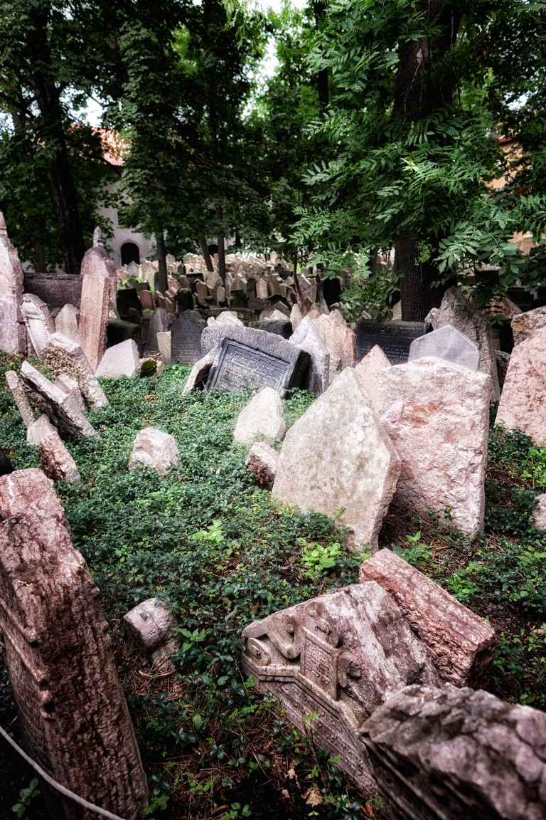 Graveyard at Prague's Jewish Quarter