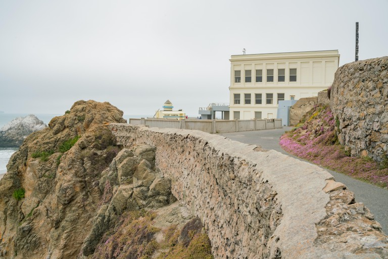 San Francisco, MAY 22: The historical Cliff House and Camera Obscura on MAY 22, 2017 at San Francisco, California