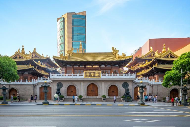 Jingan temple, a Buddhist temple in Shanghai,