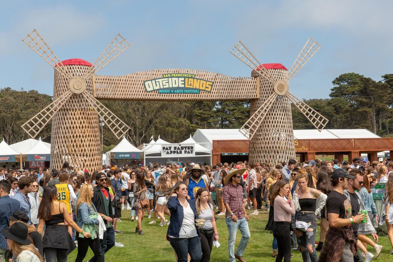 San Francisco, California, USA. 10th Aug, 2018. Windmill Gate of Outside Lands Music Festival at Golden Gate Park in San Francisco, California Credit: Daniel DeSlover/ZUMA Wire/Alamy Live News