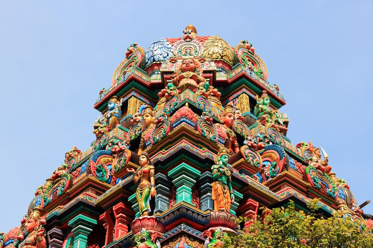Sri Mariamman Hindu temple, Bangkok, Thailand.
