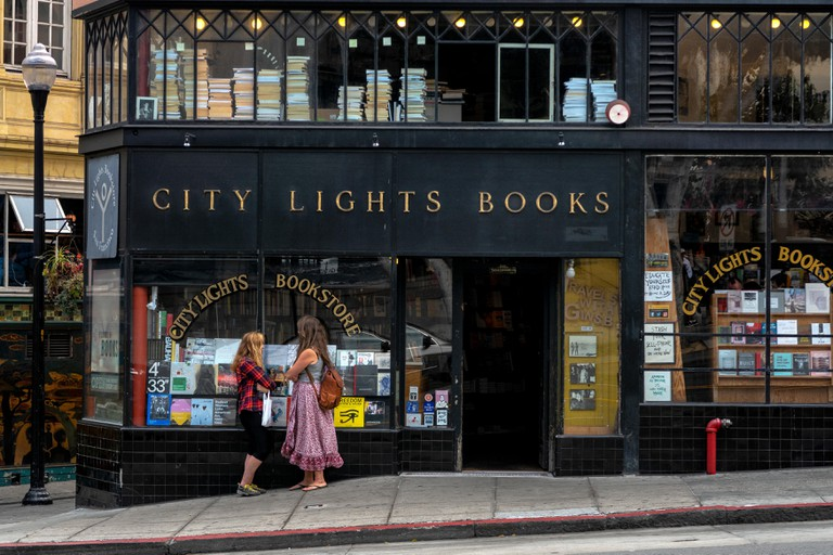City Lights Books bookstore in San Francisco, California.