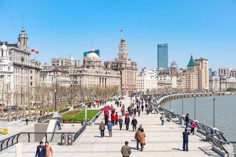 The Bund promenade, Shanghai, China
