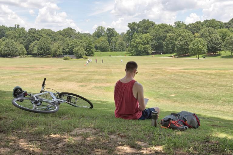 Piedmont Park on a sunny day, Atlanta.