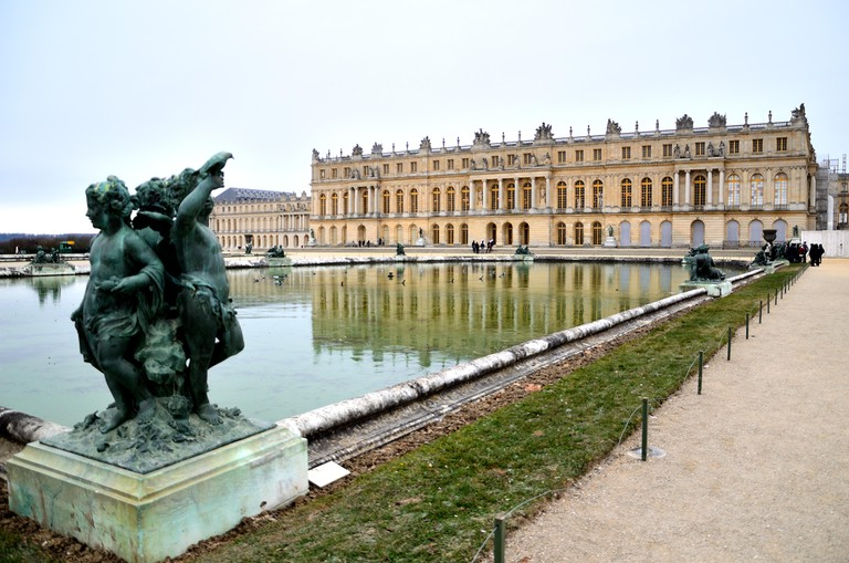 View of the Palace of Versailles from the garden