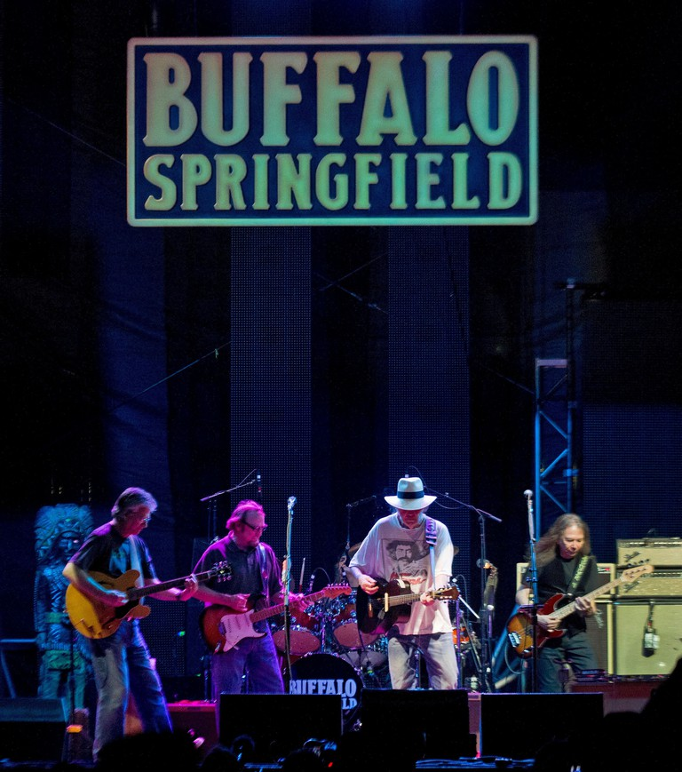 The name Buffalo Springfield came from a brand of steamroller