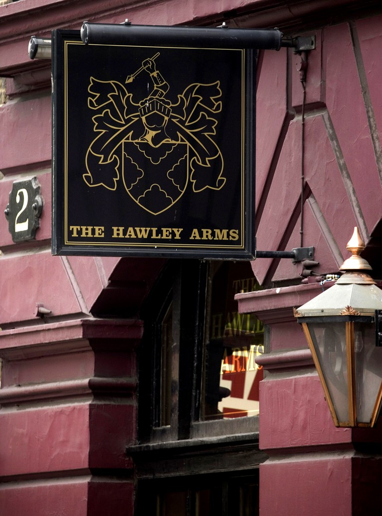 The Hawley Arms was frequented by the late Amy Winehouse
