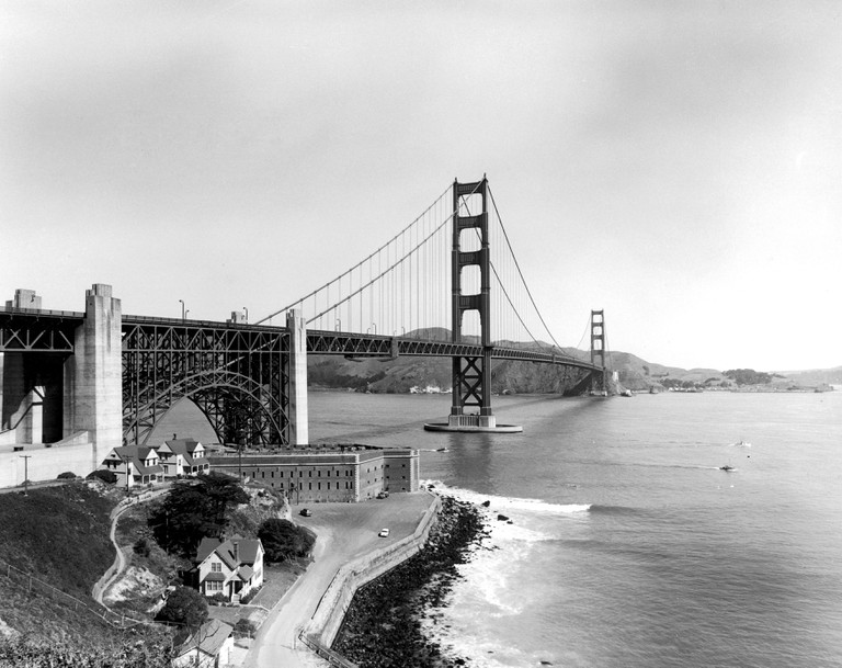 A view of The Golden Gate Bridge in San Francisco, California, which was completed in 1937 at a cost of $35 million.