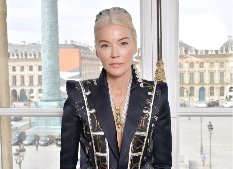 Daphne Guinness in the front row of the Schiaparelli show, Haute Couture Fashion Week, Paris.