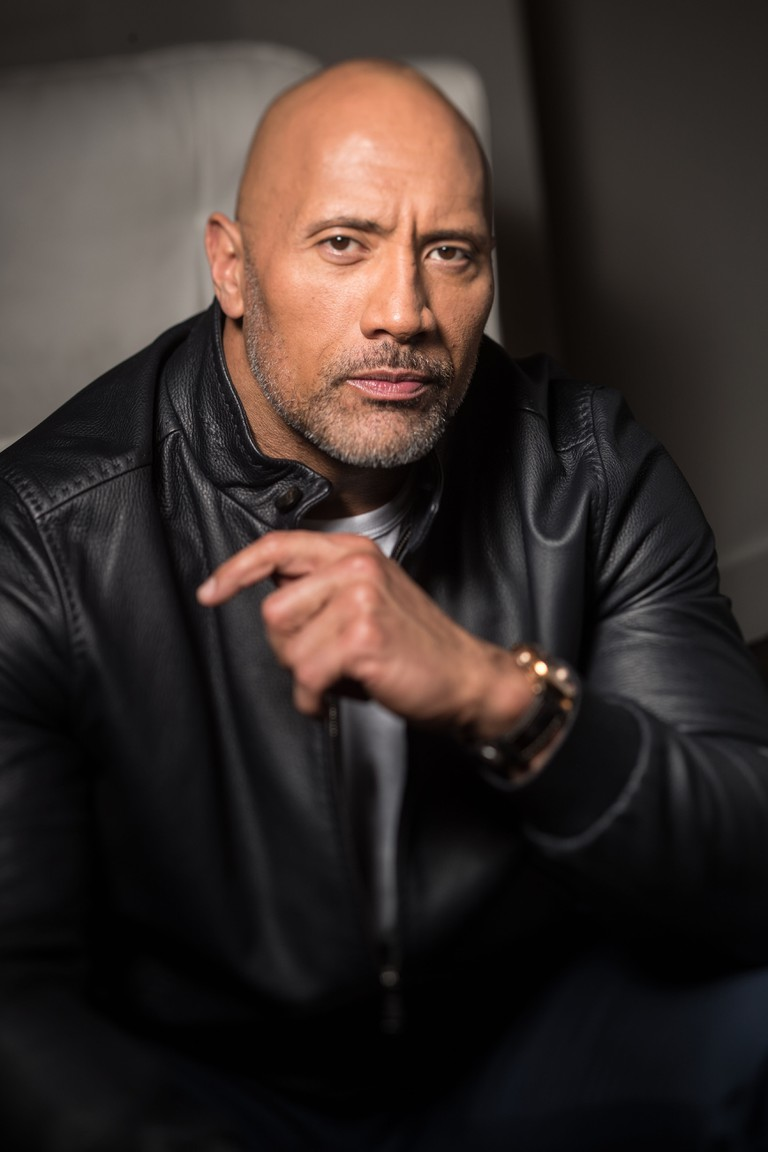 Dwayne Johnson photoshoot, Roosevelt Hotel, Los Angeles, USA - 12 Dec 2017
