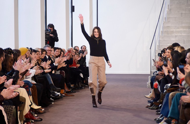 Natacha Ramsay-Levi on the catwalk at the Chloe show, Paris Fashion Week.