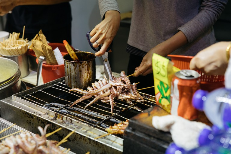 Mong Kok in Hong Kong is known for its fresh street food