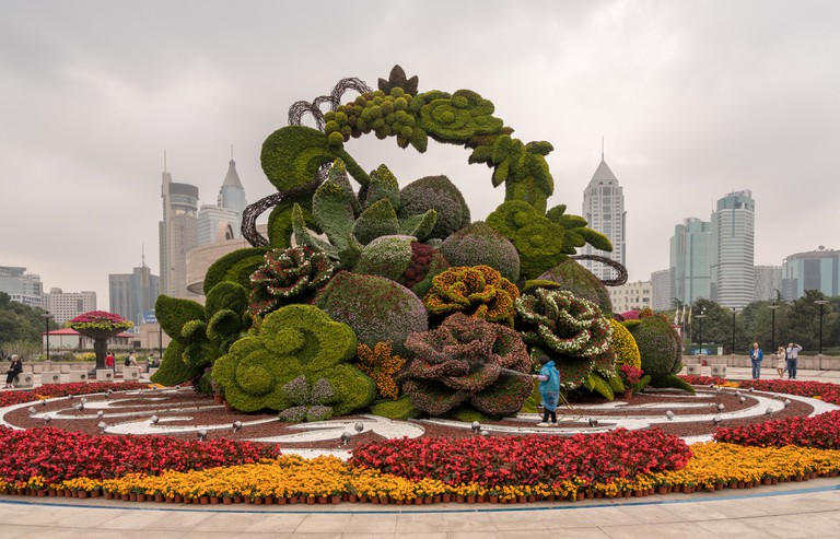 Golden Week floral display, Shanghai
