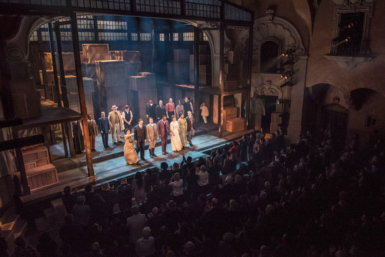 Curtain call at Opening Night of Ragtime: The Musical at Pasadena Playhouse