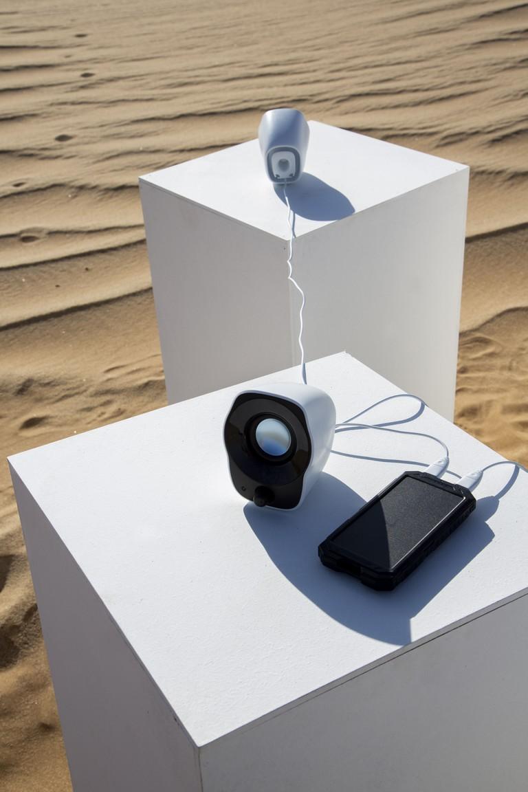 """Max Siedentopf's installation """"Toto Forever"""", Namib Desert"""