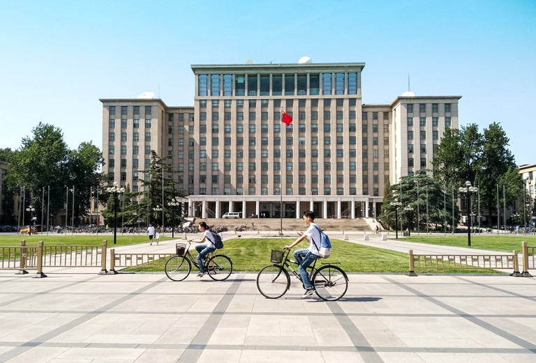 Tsinghua University is known for its picturesque campus