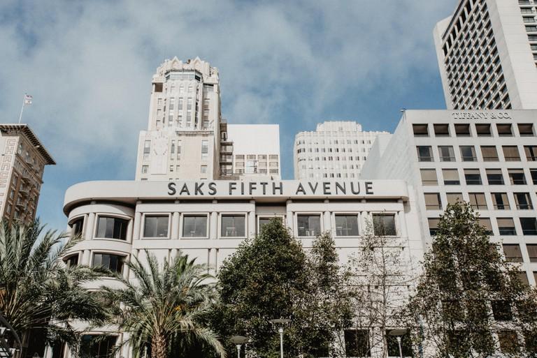 Saks Fifth Avenue. Union Sq. San Francisco.