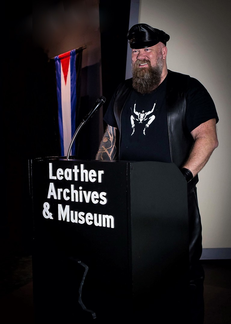 Gary Wasdin, the Executive Director of the Leather Archives and Museum.