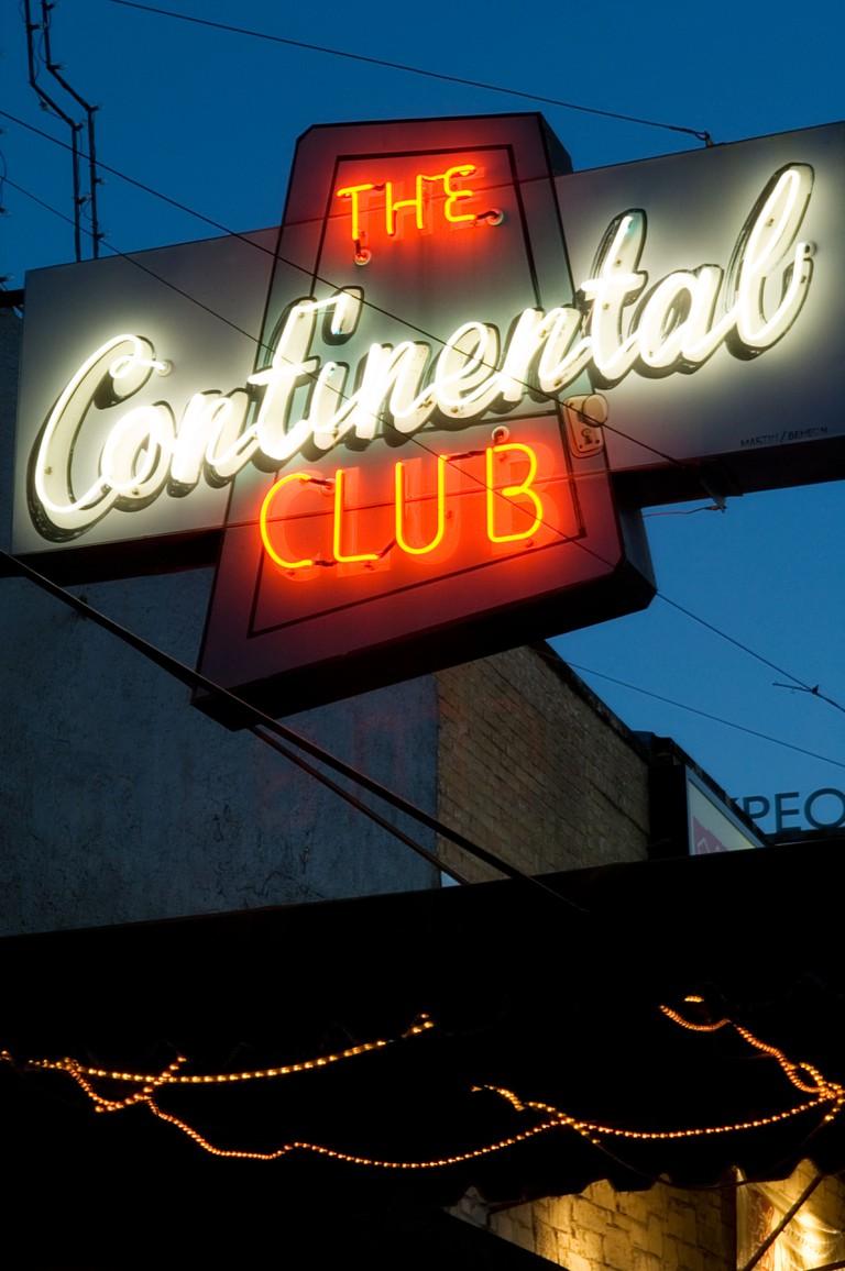 Continental Club in Austin TX.