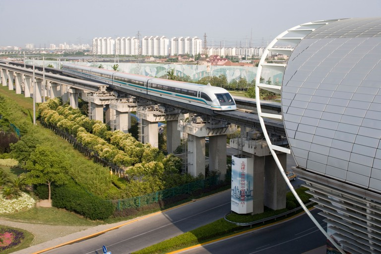 MagLev train in Shanghai, China.