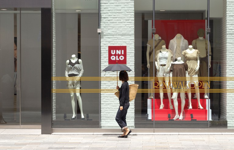 UNIQLO Window Shopping at Ginza, Tokyo, Japan
