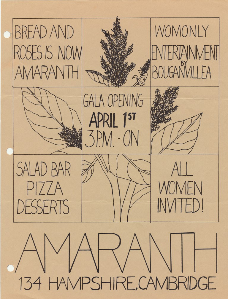 Archival flyer for a women-only event in the 1970's or 1980's.