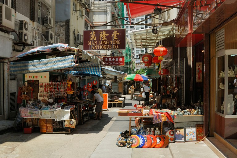 Cat Street market, Hong Kong.